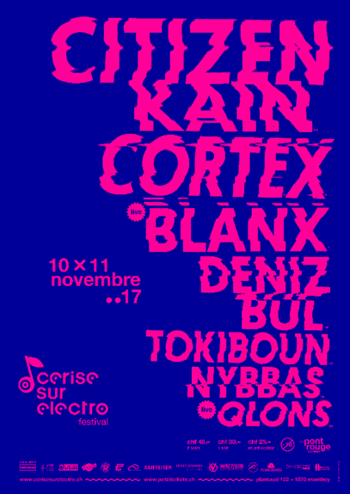 Party flyer: Cerise sur Electro festival 10 Nov '17, 21:00