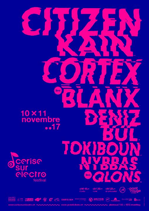 Cerise sur Electro festival 10 Nov '17, 21:00