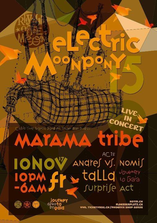 Party flyer: ☆*•.Electric Moonpony 15 *♫• 10 Nov '17, 22:00