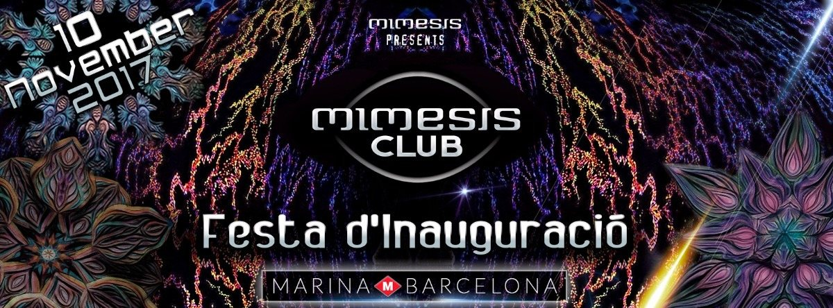 Party flyer: Mimesis CLUB - Festa d'Inauguració! 10 Nov '17, 01:00