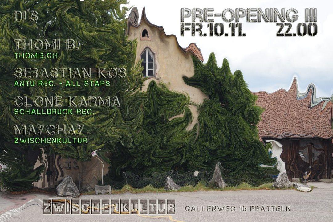 Party flyer: Pre-Opening III 10 Nov '17, 22:00