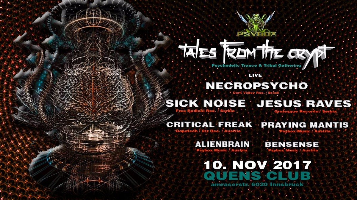PSYBOX - Tales from the Crypt with NECROPSYCHO / SICK NOISE / JESUS RAVES.... 10 Nov '17, 22:00