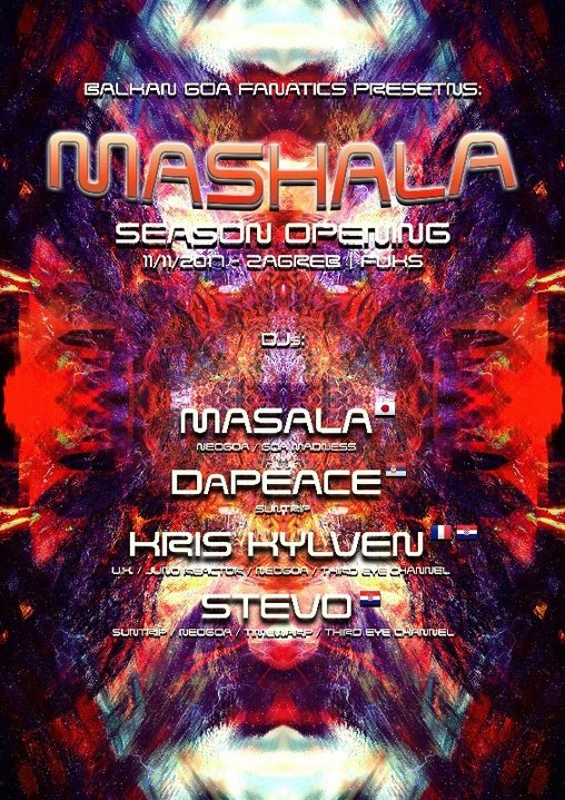 Party flyer: BGF proudly presents : Mashala Indoor season launch party 11 Nov '17, 22:00