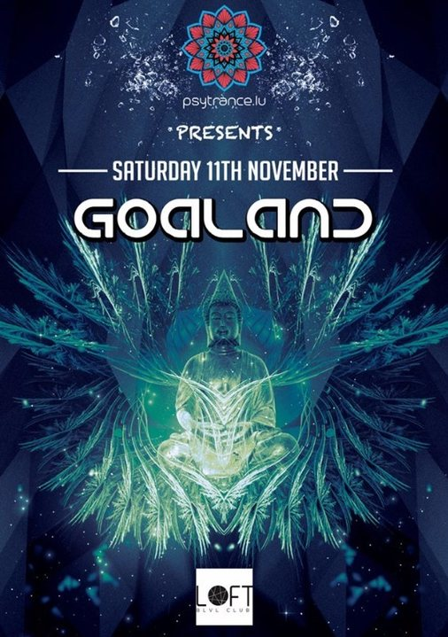 Party flyer: Goaland 11 Nov '17, 22:00