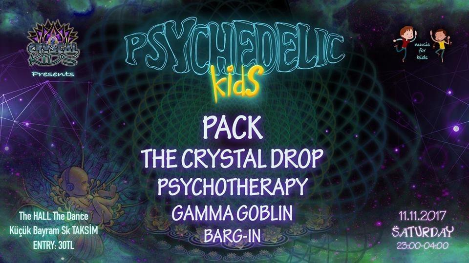 Party flyer: Psychedelic Kids 11 Nov '17, 23:00