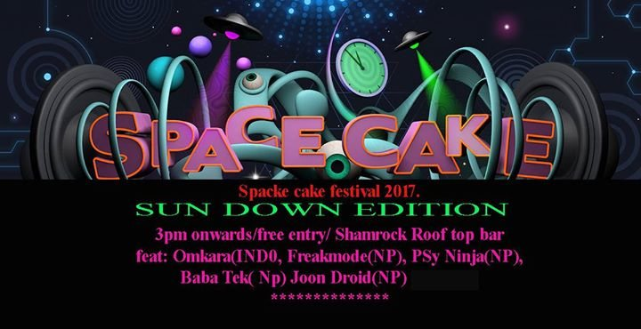 Party flyer: Space Cake sun down edition 11 Nov '17, 15:00