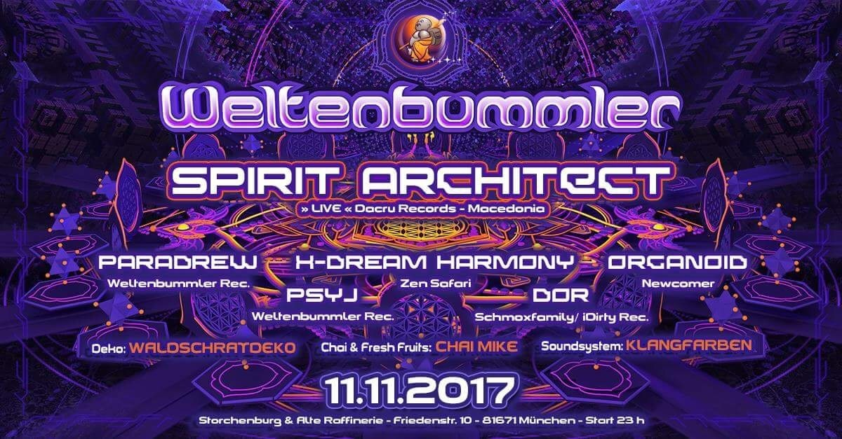 Weltenbummler with Spirit Architect ( live ) // Mazedonien 11 Nov '17, 23:00