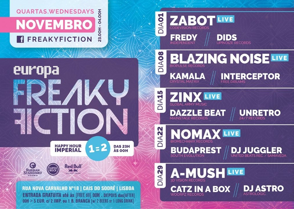 Party flyer: FREAKY FICTION 15 Nov '17, 23:00