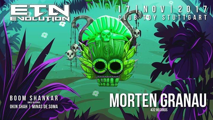 Party flyer: ॐ Evolution ॐ Morten Granau - Boom Shankar - Okin Shah 17 Nov '17, 23:00