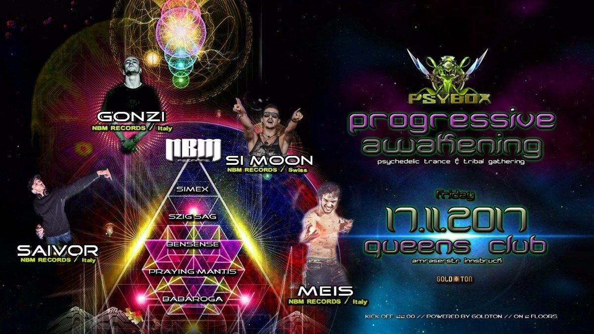 Psybox - Progressive Awakening - NBM Records Label Night 17 Nov '17, 22:00