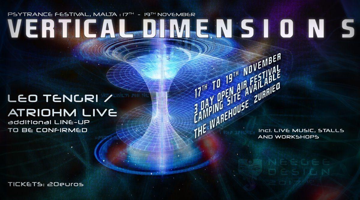 Vertical Dimensions - Psychedelic Trance Gathering In Malta 17 Nov '17, 11:00