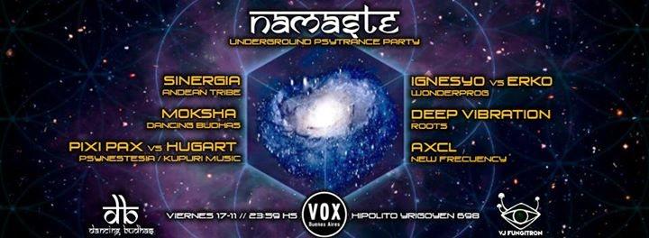 Vier 17/11 Namaste Underground 100% Psytrance Party 17 Nov '17, 23:59