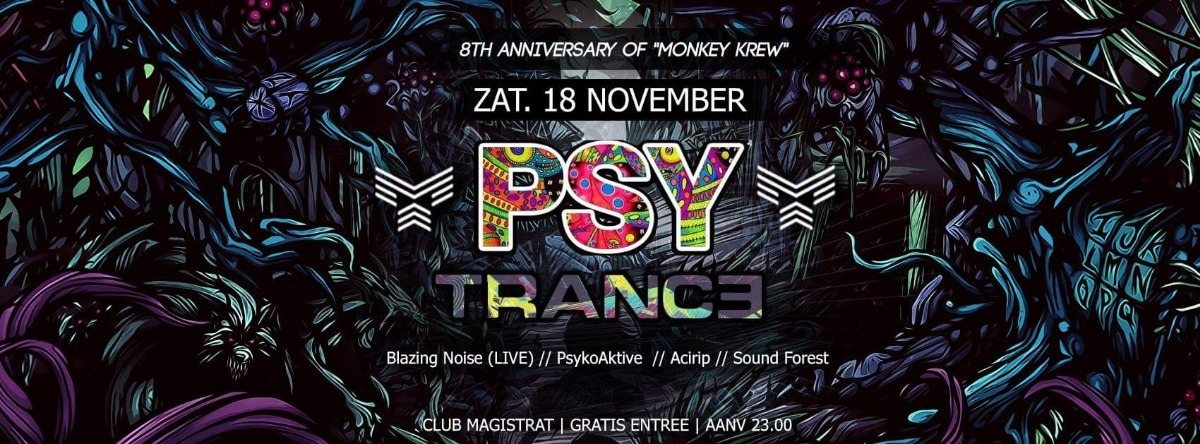 """8th Anniversary of """"Monkey Krew"""" 18 Nov '17, 22:00"""