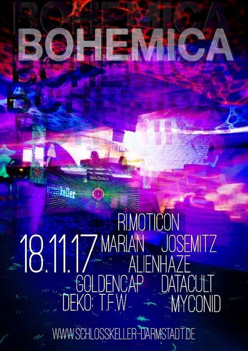Party flyer: BoHeMicA 18 Nov '17, 23:00