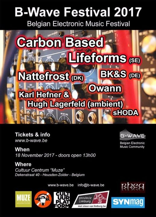 Carbon Based Lifeforms live at B-wave Festival 18 Nov '17, 13:30