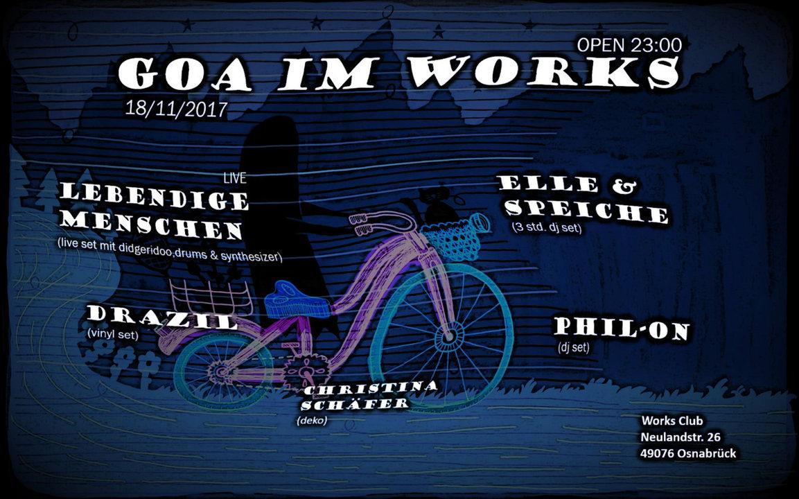 Party flyer: ૐ-GOA IM WORKS -ૐ 18 Nov '17, 22:00