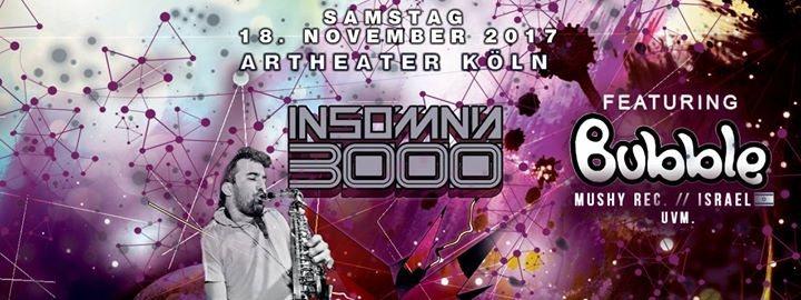 Party flyer: Insomnia 3000 / Wild Winter Season 17 / Bubble from Israel uvm. 18 Nov '17, 23:00