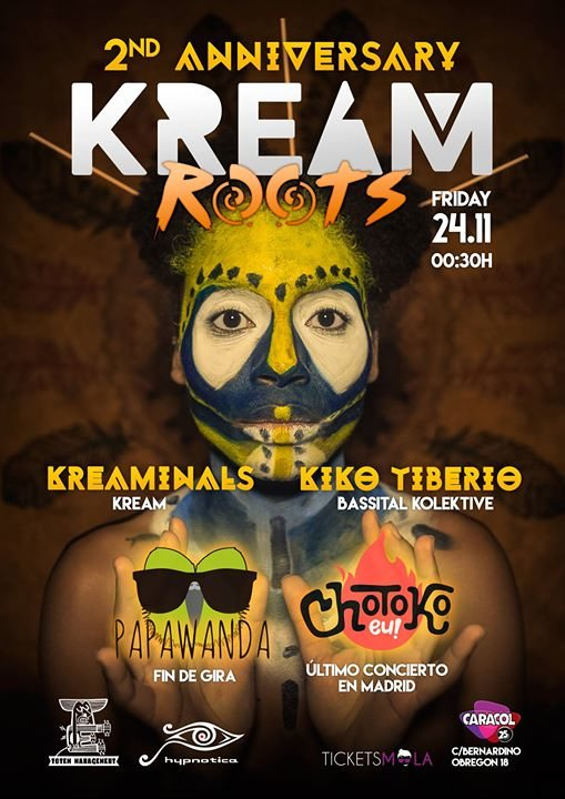 2nd Anniversary KREAM Roots 24 Nov '17, 23:55