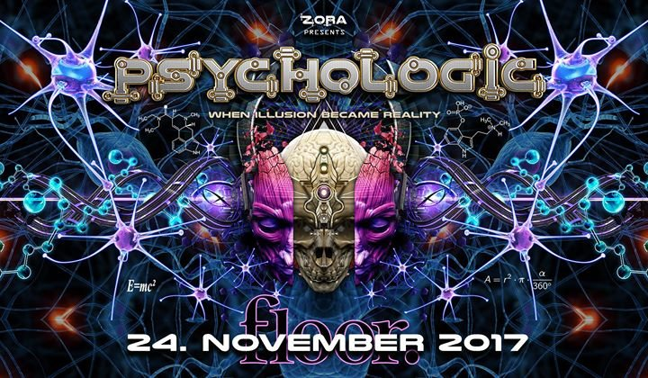 Party flyer: PsychoLogic 6 ॐ Ab 20 ♫ ZZbing / Kim ♫ Die ersten 100 = Free 24 Nov '17, 21:00