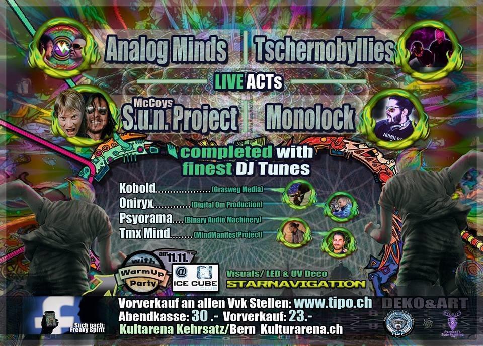 Party flyer: Freaky Spirit BERN 25 Nov '17, 21:00