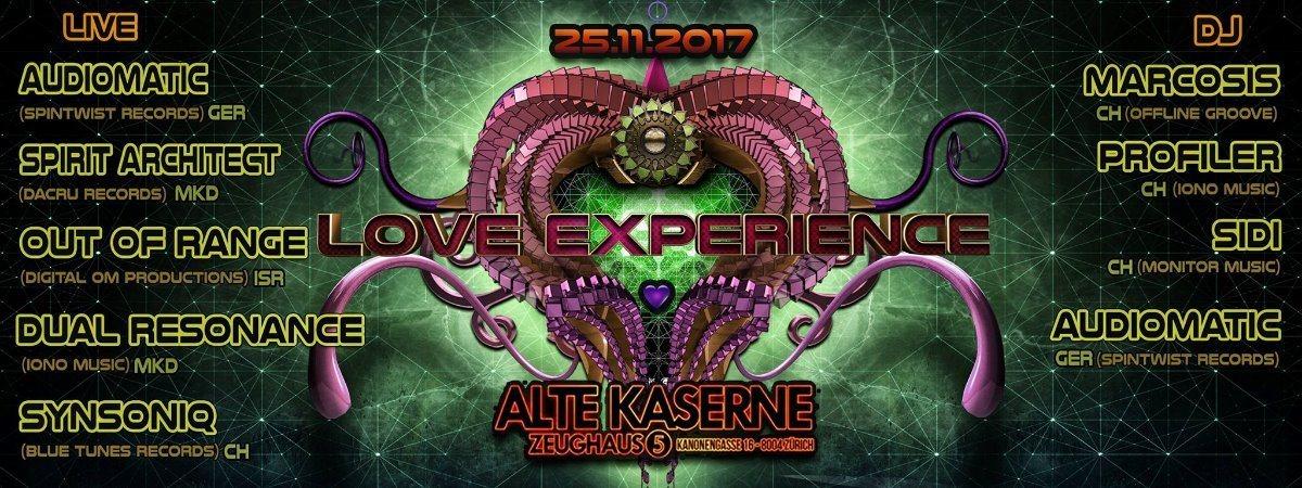 **LOVE EXPERIENCE** Alte Kaserne Zürich 25 Nov '17, 23:00