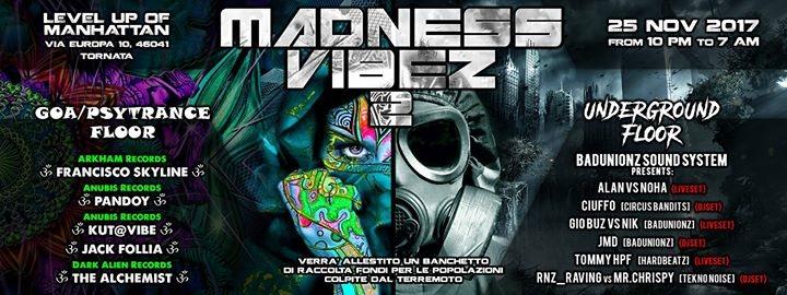 Party flyer: Madness Vibez 2 25 Nov '17, 22:00