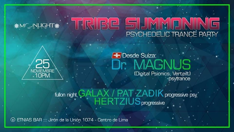 Party flyer: Tribe Summoning 2 - psychedelic trance 25 Nov '17, 21:00