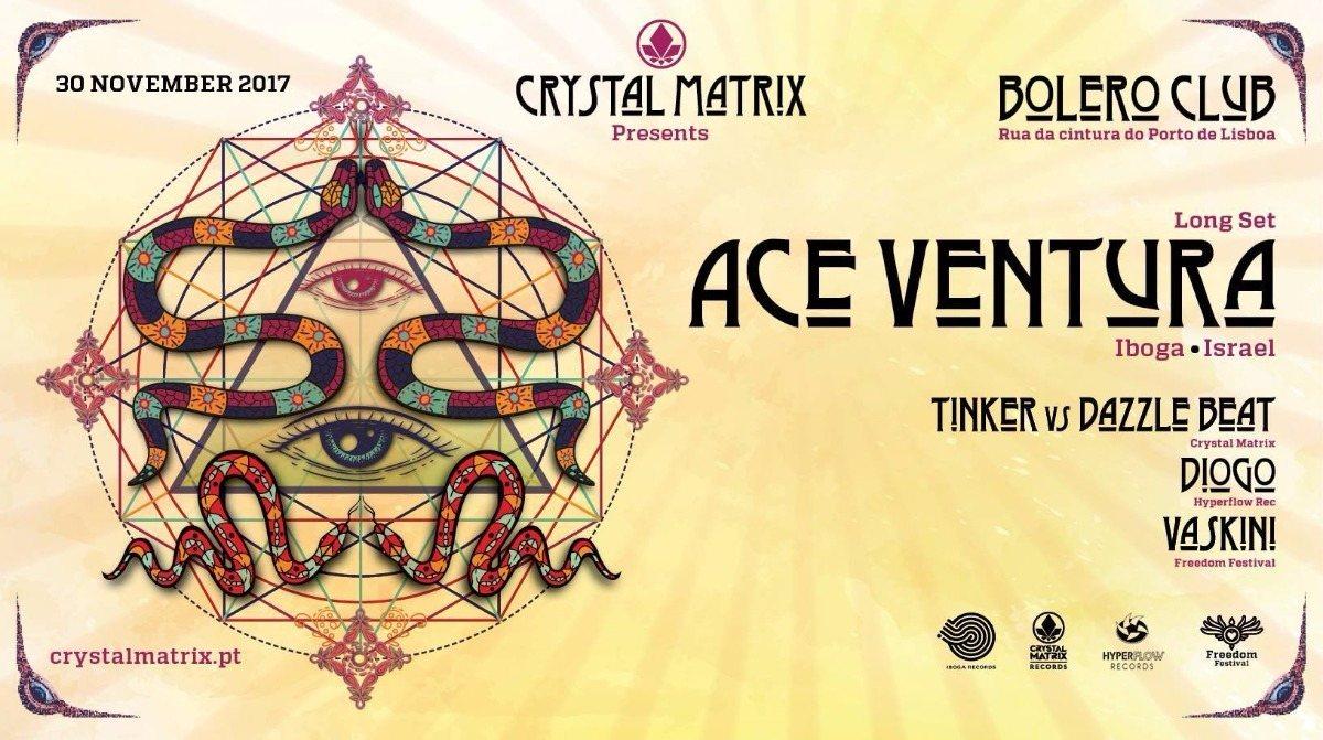 Party flyer: ACE Ventura at Lisboa 30 Nov '17, 23:00