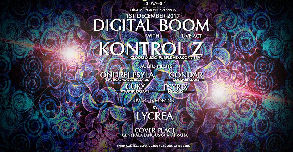 Party flyer: Digital Forest presents Digital Boom with Kontrol Z (Brasil) 1 Dec '17, 21:30