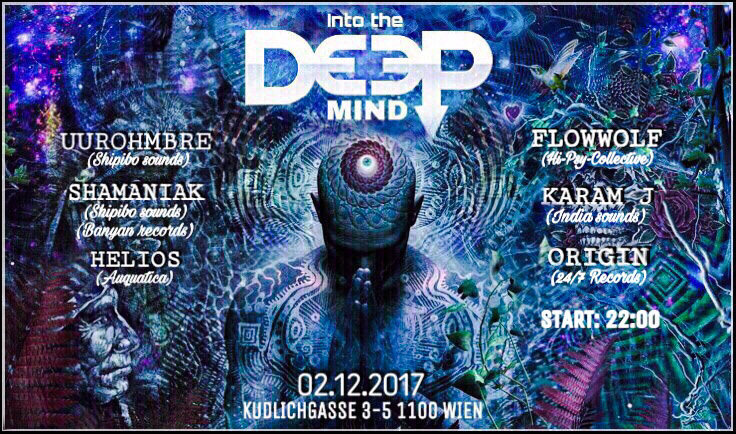 "Party flyer: ""Into the DEEP mind"" 2 Dec '17, 22:00"