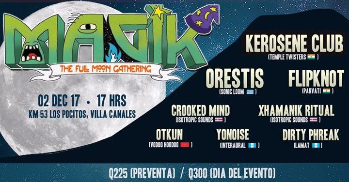 Party flyer: Magik FullMoON 2 Dec '17, 16:00
