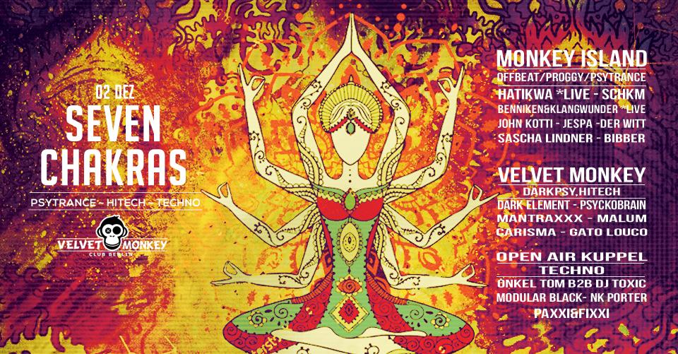 Seven Chakras w/ Hatikwa 2 Dec '17, 22:00