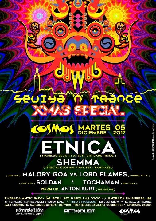 Sevilla 'N' Trance @Sala Cosmos 05/12/17 (X mas Special) 7 aniversario Red Dust 5 Dec '17, 23:30