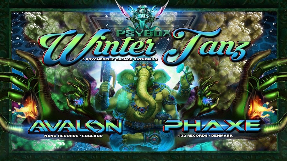 Party flyer: PSYBOX - Winter Tanz with AVALON & PHAXE *live 8 Dec '17, 22:00