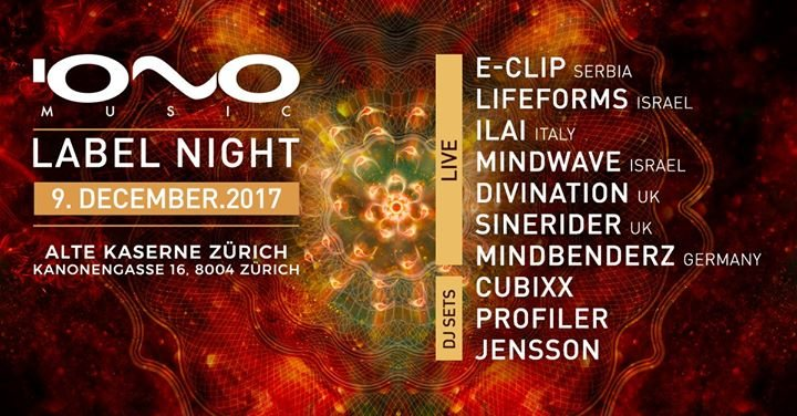 IONO NIGHT Zürich 9 Dec '17, 23:00