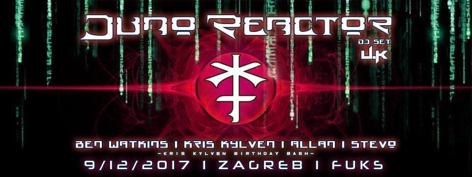 Juno Reactor In Zagreb - Kris Kylven Birthday Bash 9 Dec '17, 22:00