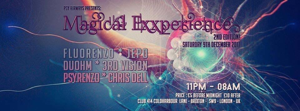 Psy Airways Present: Magical Exxperience - 9h of Dec @Club 414! 9 Dec '17, 23:00