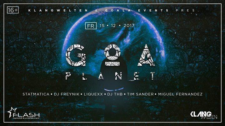 Party flyer: GOA Planet 15 Dec '17, 23:00