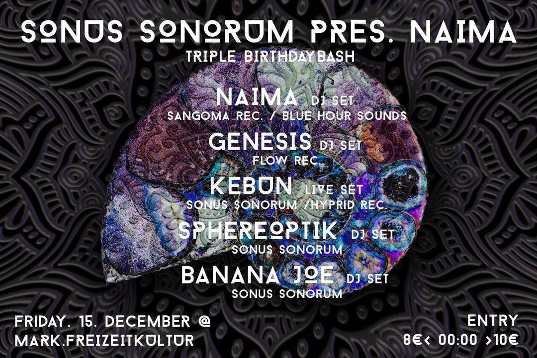 Sonus Sonorum presents Naima 15 Dec '17, 21:00