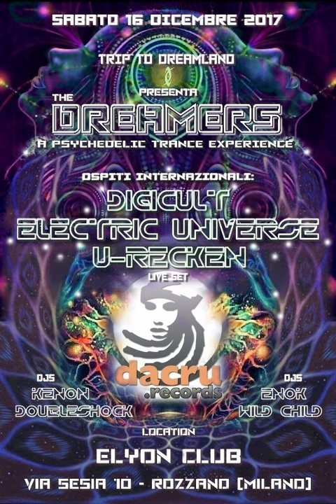 Electric Universe, U-Recken + Digicult: Dacru rec. label party 16 Dec '17, 23:00