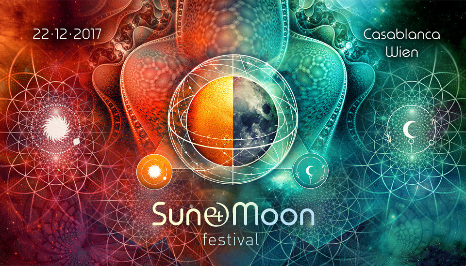 Party flyer: SUN & MOON Festival 2017 22 Dec '17, 21:00