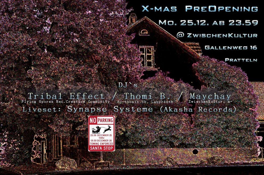 X-Mas Pre-Opening 25 Dec '17, 23:30