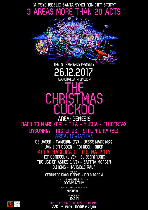 "The -S- Xperience presents ""The Christmas Cuckoo"" 26 Dec '17, 23:00"