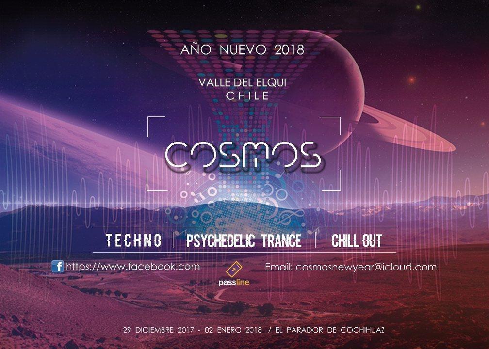 Party flyer: Cosmos 2018 29 Dec '17, 09:00