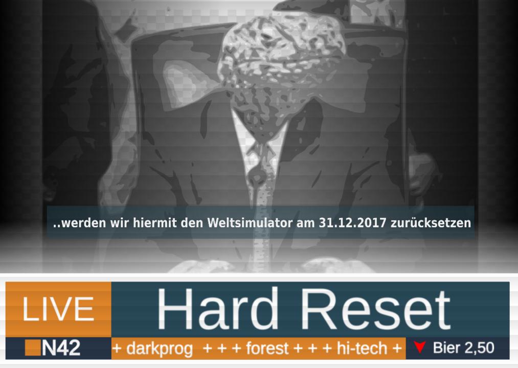 Party flyer: Hard Reset 31 Dec '17, 20:00