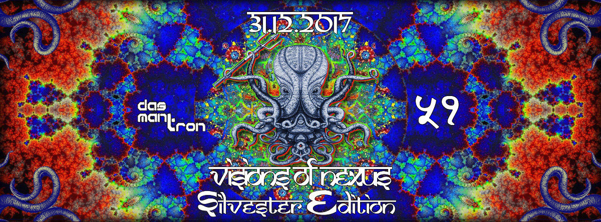 Party flyer: Visions of Nexus Silvester Edition 31 Dec '17, 22:00