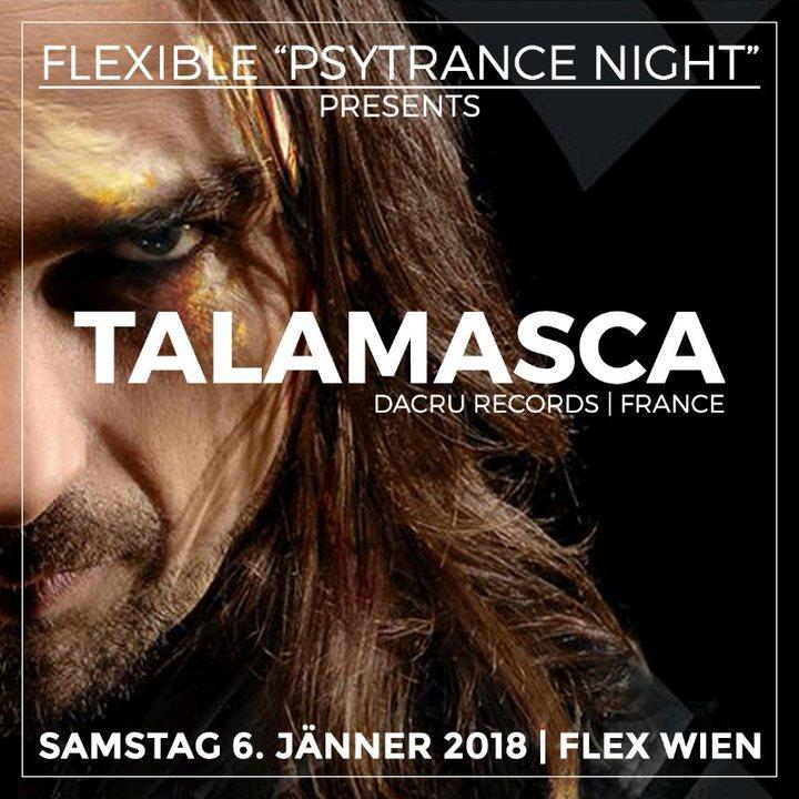 """Party flyer: Flexible """"Psytrance Night"""" mit Talamasca live & Djane Gaby 6 Jan '18, 23:00"""