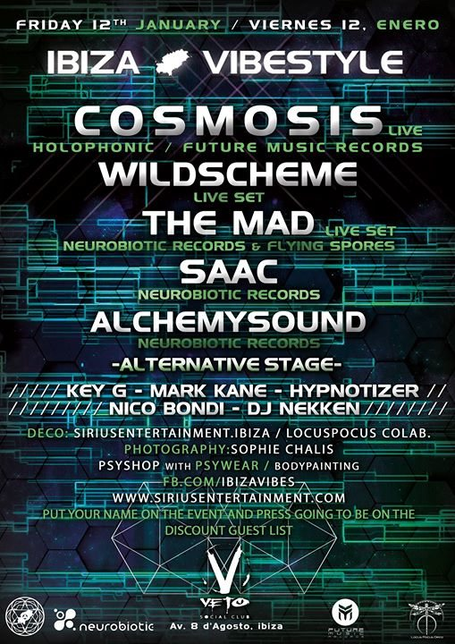 Cosmosis Live Set at Veto Club by ibizaVibestyle 12 Jan '18, 23:00