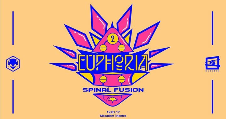 Party flyer: Euphoria #2 w/ Spinal Fusion (Profound Records) 12 Jan '18, 23:45