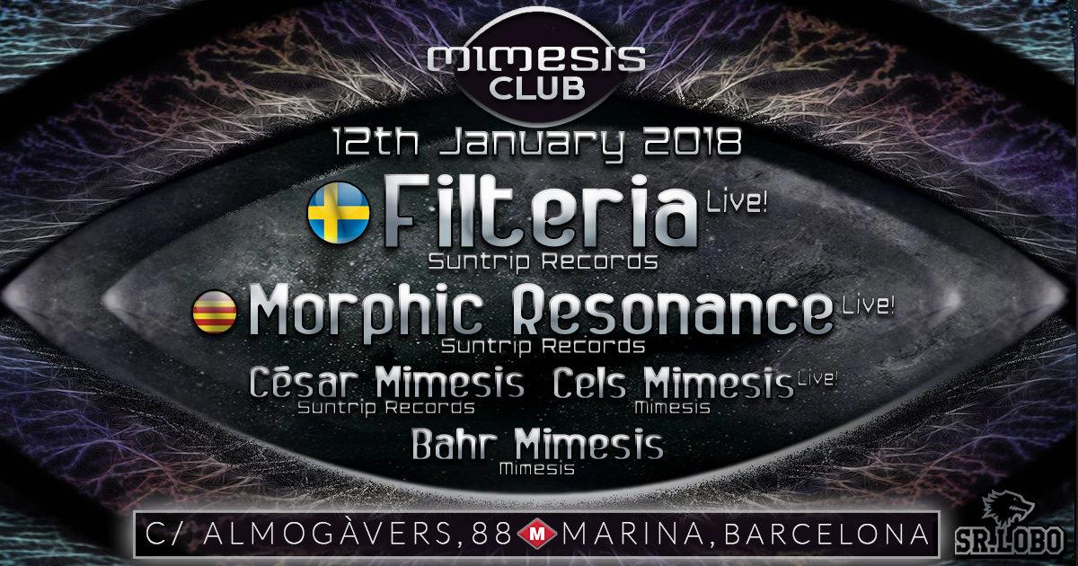 Mimesis CLUB - January w/ FILTERIA & Morphic Resonance 12 Jan '18, 23:30